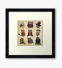 Harry Potty Owls Framed Print