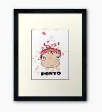 Little Ponyo ink Framed Print