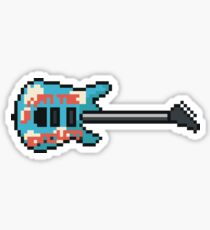 Pixel Armed and Homeless Guitar Sticker