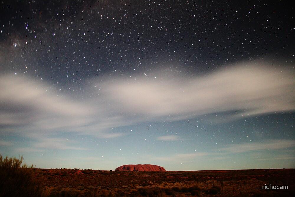 Ayers Rock (Uluru) by Moonlight 2 by richocam