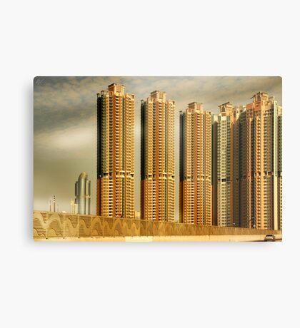 Hong Kong Skyscrapers Metal Print