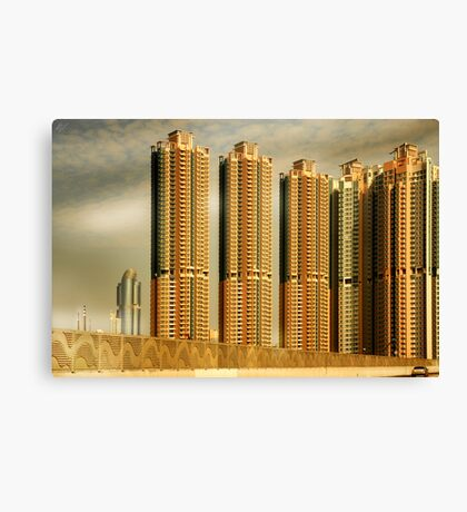 Hong Kong Skyscrapers Canvas Print