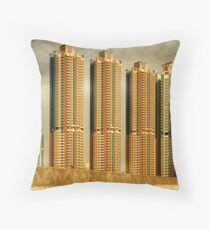 Hong Kong Skyscrapers Throw Pillow