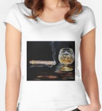 Cigar & Brandy Women's Fitted Scoop T-Shirt