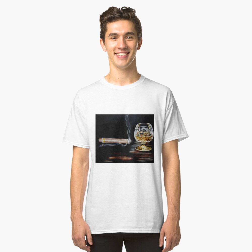 Cigar & Brandy Classic T-Shirt Front