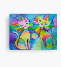 Rainbow Pussies Canvas Print