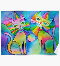 Rainbow Pussies Poster
