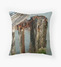 Breakwater Raaf's Beach,Bellarine Peninsula Throw Pillow