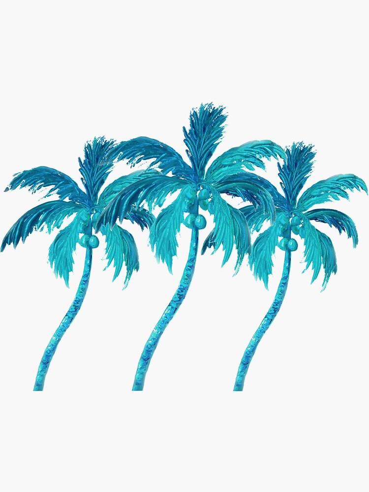 Tres palmeras de coco de MatsonArtDesign
