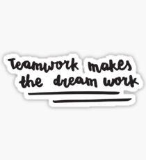bts - teamwork makes the dream work Sticker