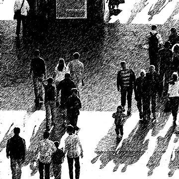 Crowd Scene Brush Stroke by SteveKilburn