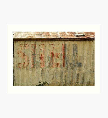 Old Workshop,Shell Signage Art Print