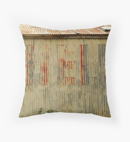 Old Workshop,Shell Signage Throw Pillow
