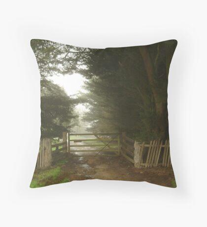 Farm Entrance Throw Pillow