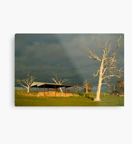 Sunrise Storm Clouds Rowsley Valley Metal Print