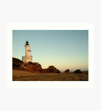 Dusk Pt Lonsdale Lighthouse Art Print