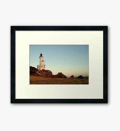 Dusk Pt Lonsdale Lighthouse Framed Print