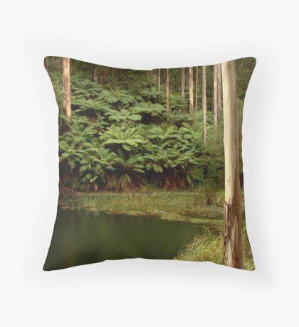 Billabong, Otway Ranges Throw Pillow