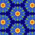 Sapphire Blue Dasies by Rasendyll