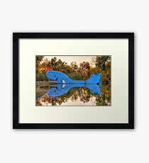 The Route 66 Blue Whale - Catoosa Oklahoma Framed Print