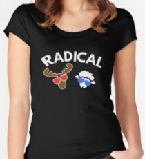 Radical  Moose Lamb T Shirt Women's Fitted Scoop T-Shirt