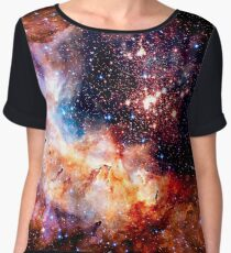 Cosmic Connection, Galaxy, Space, Nebula, Stars, Planet, Universe,  Chiffon Top