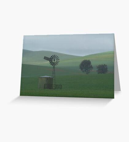 Misty Rain Southern Flinders Ranges Greeting Card