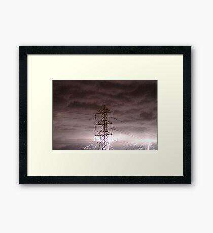 Lightning Storm,Grovedale Geelong Framed Print
