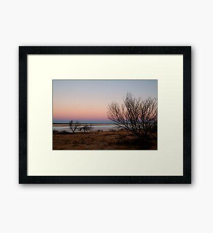 Salt Pan, Simpson Desert, S.A. Framed Print