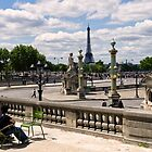 Relaxing in Tuileries Garden - Paris France by Norman Repacholi
