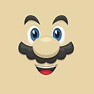Mario face by gingerraccoon