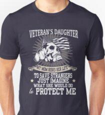 Veteran Shirt. Funny Veteran's Daughter T Shirt. Veteran Mug T-Shirt