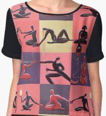 Yoga Positions Chiffon Top