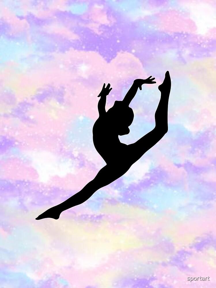 Gymnastics Leap by sportart