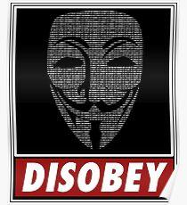 Binairy Vendetta: Disobey Poster