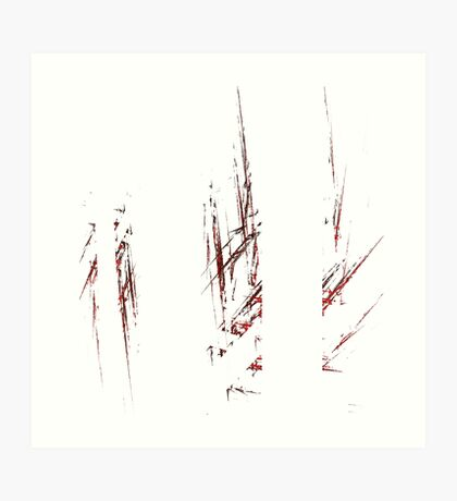 Traces and spaces Art Print