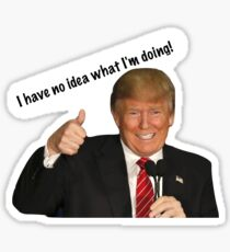 Donald Trump I Have No Idea What I'm Doing Sticker