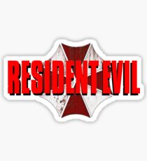 Resident Evil Logo Sticker