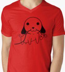 Gamepad Puppy Mens V-Neck T-Shirt