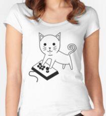 Arcade Kitten Women's Fitted Scoop T-Shirt