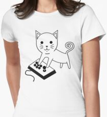 Arcade Kitten Women's Fitted T-Shirt