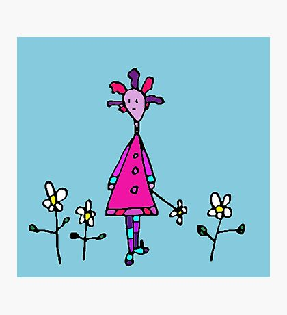 Silly Picked Flowers Photographic Print
