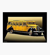 1937 Whites Touring Bus Photographic Print