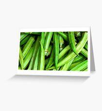 Okra Green Greeting Card