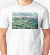 "Lancaster B.1 ""City of Lincoln"" over Burghley House Unisex T-Shirt"