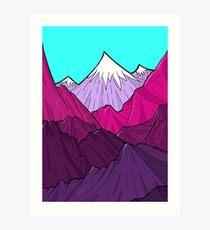 The Purple Mounts Art Print