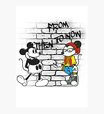 From Then To Now feat. Micky Mouse Photographic Print