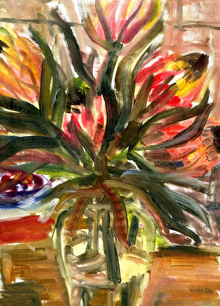 Protea still life by Peter Neish