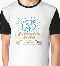 Satriale's -  Pork Store New Jersey Blue Graphic T-Shirt