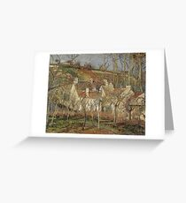 Camille Pissarro - Red Roofs, Corner Of A Village, Winter (1877) Greeting Card